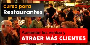 Curso para restaurantes – Aumentar las ventas y atraer más clientes